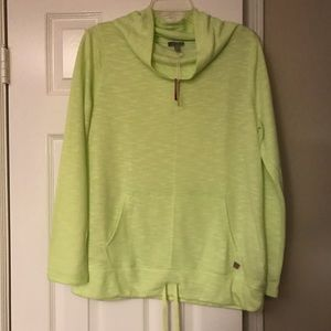 T by Talbots cowl neck pullover Lime Green